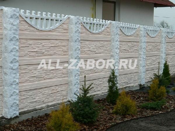 Декоративный забор из бетона купить в липецке сколько стоит заливка пола цементным раствором