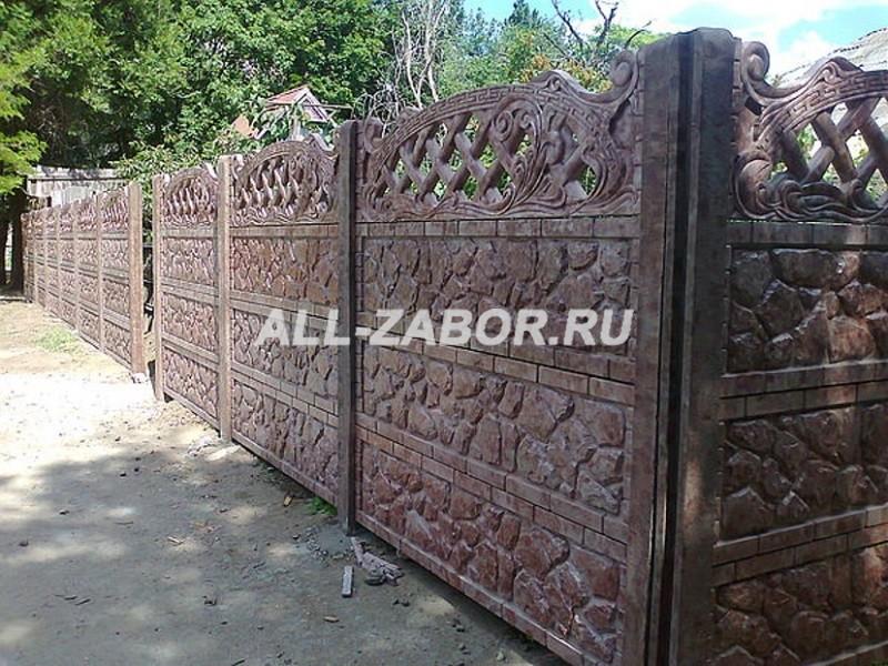 Купить декоративный забор из бетона в липецке какой состав цементного раствора для штукатурки